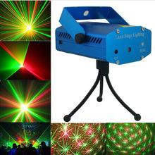Новый синий мини из светодиодов лазерный проектор с розничной коробке диско DJ бар стадия дом освещение
