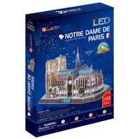 Cubic Fun 3D Puzzle Toys LED Notre Dame De Paris Model DIY Education Puzzle Gift L173h