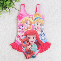 4-12 Years Frozen Children Baby Swimsuit/Kids One Piece Swimwear/Girls Swimming Clothes/Retail 1 pc/Princess