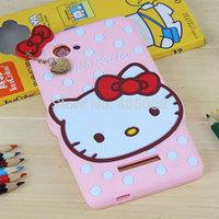 Lenovo A880 Silicone Case Cute Hello kitty Polka Dots Case Soft Back Cover Lenovo A880 Cartoon Phone Case Free Shipping 10pcs