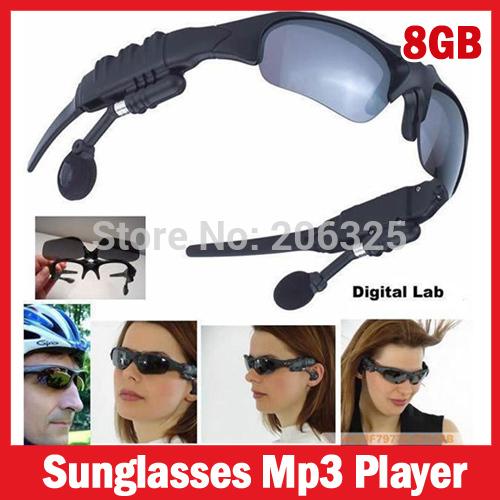 Hot Sale, sunglasses mp3 player 8GB, sport headset mp3 player 8GB,sun glasses mp3 player(China (Mainland))