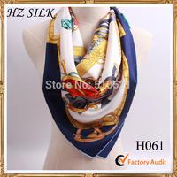 2014 paris brand designer silk twill scarf  90 hijab  winter accessories free shipping