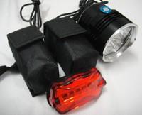 Free Shipping 12800mAh battery 5x CREE XM-L XMl T6 LED 7000 Lumen Cycling Head Front Bike Bicycle Light Lamp HeadLamp HeadLight