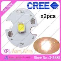 2pcs/lot! Cree XLamp XPL XP-L Warm White 3000K-3500K 10W High Power LED Emitter Bulb on 16mm Star Platine Heatsink
