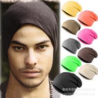 1 pcs 2014 Hot Sale Men Lady Women Unisex Elastic Hip hop Knitted New Woolly Oversized Slouch Beanie Hat Head Cap