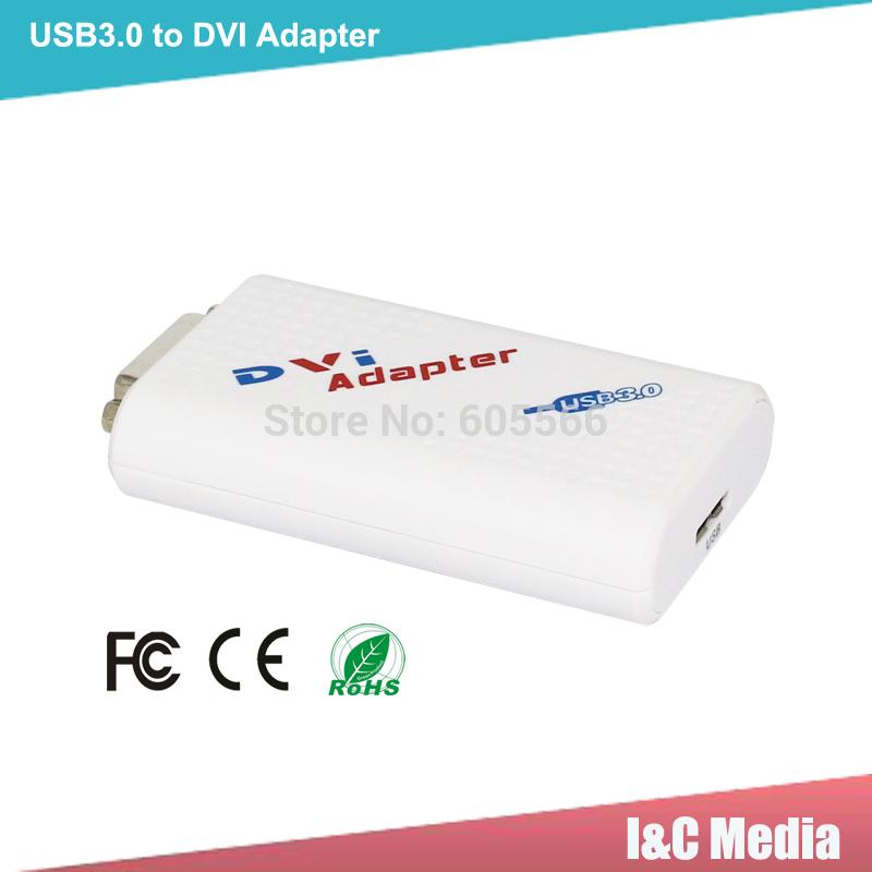 USB3.0 to DVI VGA Adapter mhl micro usb to dvi adapter Supports Microsoft Windows operation system free shipping(Hong Kong)