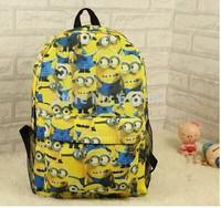 Free Shipping Fashion New Design Yellow Cute Cartoon Girl School Bag Boy Backpack Bag
