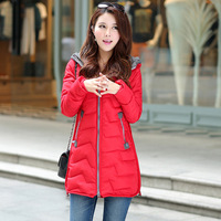 New Female Winter Coat 2014 Women Casual XXXL Plus Size Jacket Free Shipping 2014 New Korean Girls Winter Hooded Blue Parkas96XL