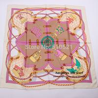 lady winter grown twill silk scarf  mulberry / women silk scarf printed, 90x90cm  free shipping