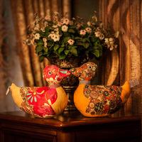 2pcs/lot Cloth Mandarin Duck Plush Doll Toys Free shipping