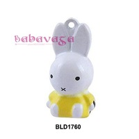 Enamel Metal Settiing Rabbit Jingle Bells Fit Charms Pendant Christmas Party Inhouse New Year Decoration