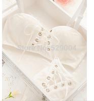 Intimates Japanese super Sexy bra push up white and black Princess straps belt lace women bra sets 2015 New Arrival Hot Brand
