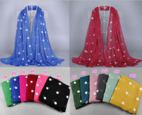 2015 new design printe big polka dot  viscose cotton pashmina shawls spring hijab muslim long wrap plain scarves/scarf 10pcs/lot