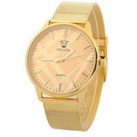 New Fashion Luxury Golden Mesh Belt Stainless Steel Wristwatch,Women Dress Watches Calibration contracted  quartz watch