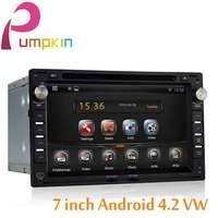 7 INCH 2 din Android 4.2 Car DVD player GPS Navigation For VW Passat B5 MK5 Jetta Golf Bora Polo SHARAN Car Audio Radio Stereo