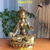 28 cm tall Tibetan Buddhist bronze antique imitation Ushnisha Sita Tapatra  buddha statue