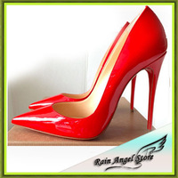 European Wedding Shoes Women's High-heeled Shoes Sexy Club Women Pumps Patent Leather Pumps 8-10-12cm Heels