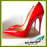 European Wedding Shoes Women's High-heeled Shoes Sexy Club Women Pumps Patent Leather Pumps 8-10-12cm Heels
