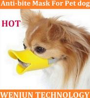 50pcs Hot Sale  Novelty cute duckbilled dog muzzle Bark bite stop,anti-bite mask For Pet dog Free Shipping