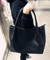 2014 women's handbag fashion bag women's casual one shoulder handbag woven bag