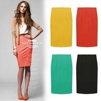 European style new women street high wais midi pencil skirts womens slim package hip bandage skirt  female saias femininas