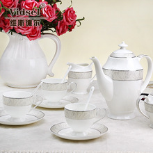 Fashion ceramic coffee cup set tea set d'Angleterre bone china coffee quality gift box set