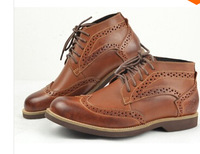 Genuine leather brand dress Oxfords boots carved vintage leather brogues Oxfords boots men shoes 2014