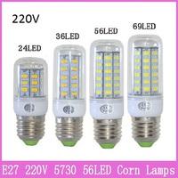 1x Mini E27 Corn Bulb Lamp 69 LED 220V 20W SMD 5730 Crystal Droplight Chandelier Spot Light 360 degree Chandelier