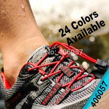 24 цветов шнурки тип и круглый функция блокировки шнурки 2.8 мм 75 пар/лот