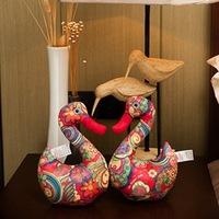 2pcs/lot Cloth Swan Plush Doll Toys Free shipping