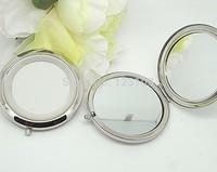 Quality Silver Base Handmade DIY Pocket Portable Mini Makeup Cosmetic Mirror