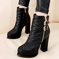 Fashion fashion martin boots ultra high heels thick heel boots female autumn and winter platform boots hasp