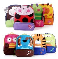 Supplying schoolbag schoolbag children's cartoon animal cute canvas bag kindergarteners