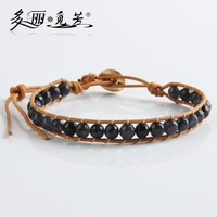 Handmade Friendship Bracelet Chic Fashion Style Faceted Agate Beaded Wrap Bracelet 6 Colors Option