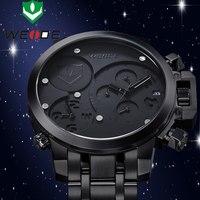 NEW!!! WEIDE Top Luxury Brand Military Watches Men 2015 Stainless Steel Band Analog&Date MIYOTA Quartz Men Wristwatches WG93002