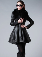 New Winter Women Down Cotton Short Slim Fur Collar Hooded Coat Jacket Parka