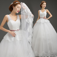 2015 fashion lace sweetheart neckline shoulders is brought back to the floor length big yards pregnant women wedding dress