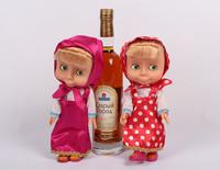 2014 New 26cm Plastic Masha Doll Russian Language Educational Toys Anime Talking Masha And Bear Toys For Children New Year Gift