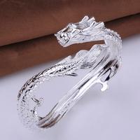 2014 New!! Wholesale Silver Plated Dragon Bangle/Cuff,Fashion Silver Bangle,Valentine's Day Best Gift,Fashion Jewelry,KNCB222