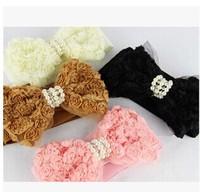 2014 latest fashion lady pearl bow elastic belt girdle decorative waistband
