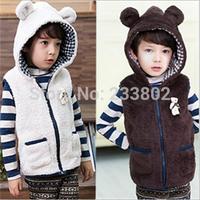 The new winter 2014 private ma3 jia3, cute teddy bear children hooded ma3 jia3, modelling coral fleece private ma3 jia3