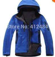 2014 new men outdoor camping&hiking jackets softshell free tech windstopper waterproof rain warm windbreaker Mammoth