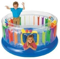 Intex48264 multicolour transparent inflatable trampoline toy play house large naughty fort trampoline