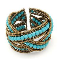 New Fashion Europe personality Pure manual beads Bangles Bracelet Jewelry wholesale