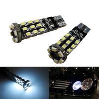 Super Bright HID White 24-SMD Error Free 2825 W5W LED Parking City Light Bulbs