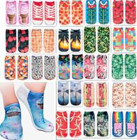 20 color Fashion 3D Digital Printed Unisex Cute Low Cut Ankle Socks women socks Calcetines Women Casual Mujer Socks