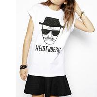 New Fashion Breaking Bad T-Shirt Women Clothing Heisenberg Print Short Sleeve T-shirts casual punk style T-shirt