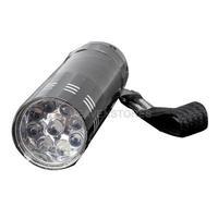 Portable 9 LED Mini LED Flashlights Super Bright LED Torch Light Outdoor Camping Flashlights Black #1JT