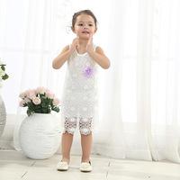 Factory direct wholesale children's clothing for girls summer new Korean lace dress baby fashion lace vest dress 5pcs/lot