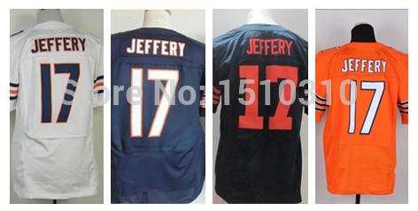 Wholesale-Men's American Football Jerseys Alshon Jeffery #17 Chicago Elite Sports Jersey Size:40~56+Free Shipping(China (Mainland))